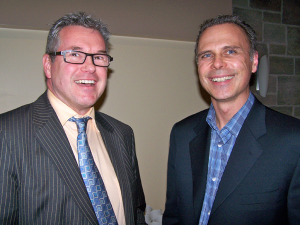 Kemptville Hospital CEO Colin Goodfellow (left), and well-known orthopaedic surgeon Dr. Geoffrey Dervin, who performs surgery at both Kemptville Hospital and The Ottawa Hospital