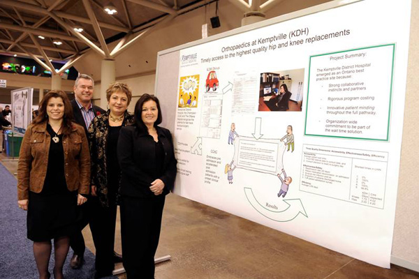 The KDH Team at HealthAchieve, left to right: Catherine Van Vliet, Colin Goodfellow, Cathy Watson, Janet York-Lowry