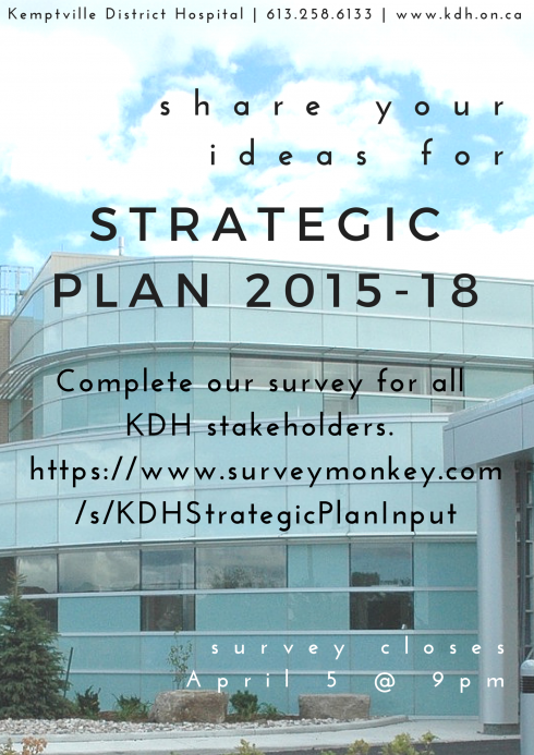 Take our online survey regarding our new Strategic Plan