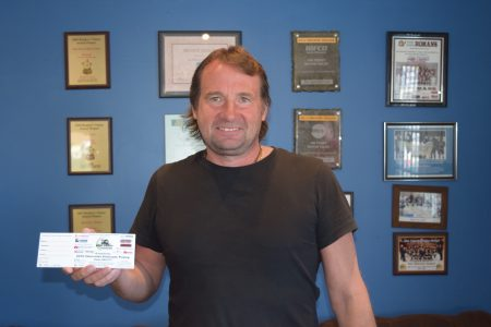 Jim with ticket