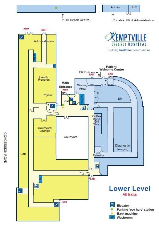 Hospital maps kemptville district hospital upper level malvernweather Gallery