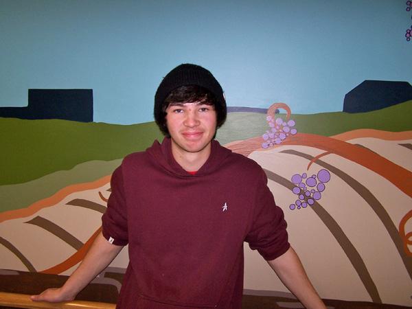 Dan Williams and mural