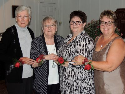 Four of this year's retirees (left to right): Linda Smith, Sheri Moore, Margaret Raymond, and Sandra Lawrence.